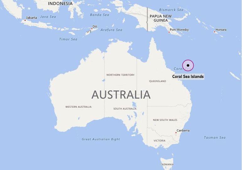 Coral Sea Map Where is Coral Sea Islands | Oceania | Island, Sea, Coral