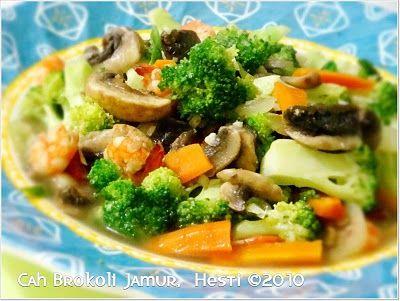 Hesti S Kitchen Yummy For Your Tummy Cah Brokoli Jamur Makan Malam Resep Makanan Brokoli