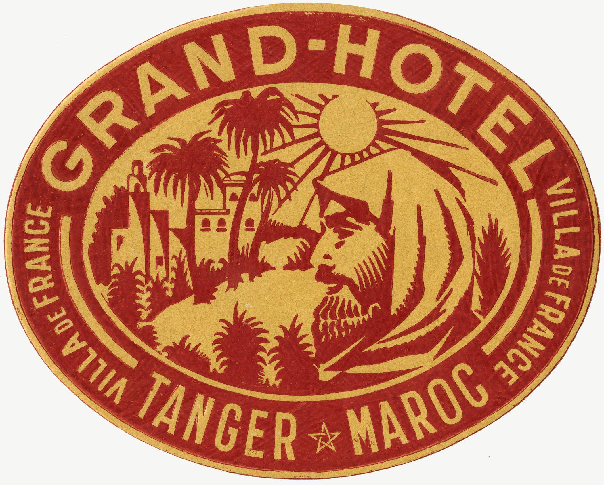Grand Hotel Tanger Maroc Luggage Label Morocco Maroc Marokko  ~ Album De Fotos Tradicional El Corte Ingles