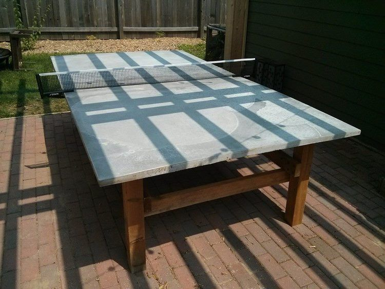 How To Build A Concrete Ping Pong Table Outdoor Ping Pong Table Diy Outdoor Table Diy Outdoor