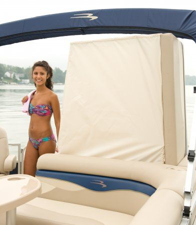 Stern Privacy Enclosure For On A Bennington Pontoon Boat