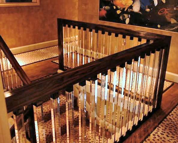 Best Acrylic Stair Rails Painted Banister Stair Railing 640 x 480