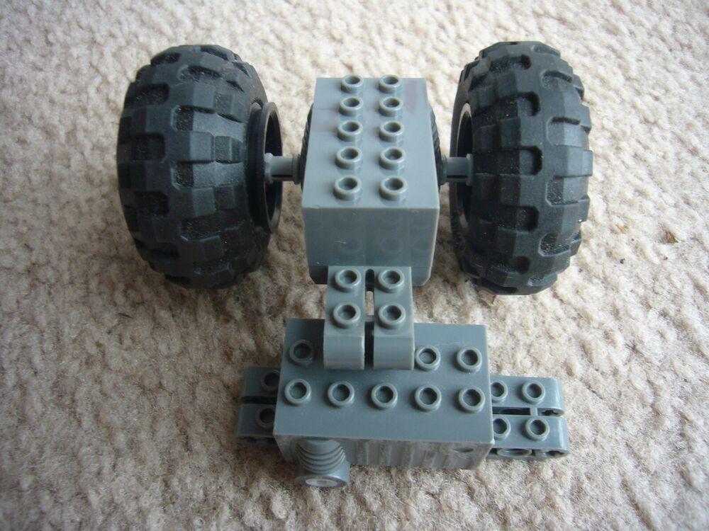 2 Lego Pullback Motor Lot 2 Tires 56 X 26 9 X 4 X 2 23 47715 Great