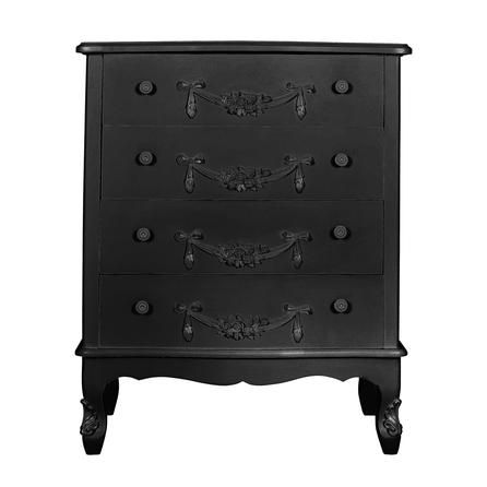 Toulouse Black Large 4 Drawer Chest | Dunelm | Bedroom ...