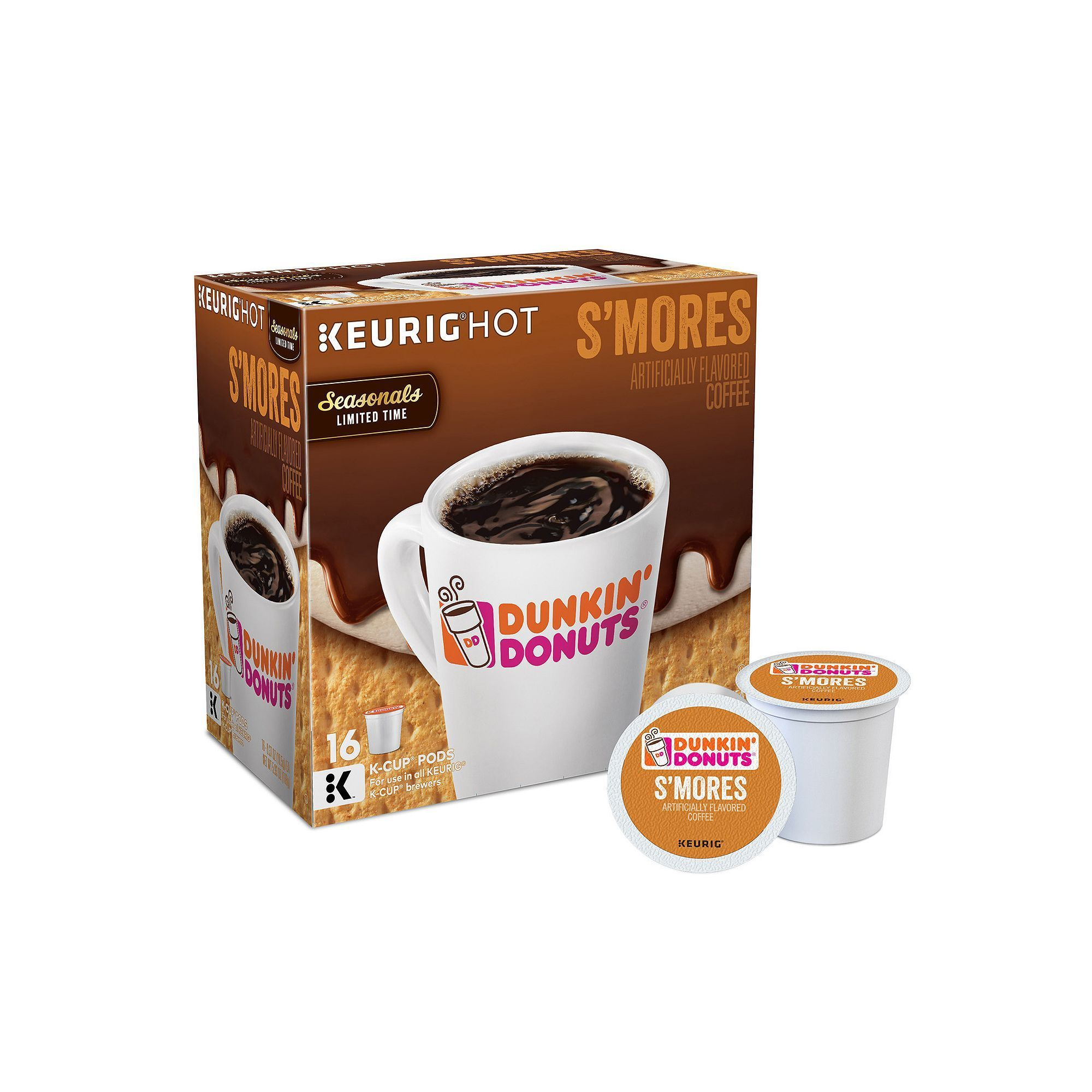 458a7dffc3baf Keurig® K-Cup® Pod Dunkin' Donuts S'mores Coffee - 16-pk   Products ...