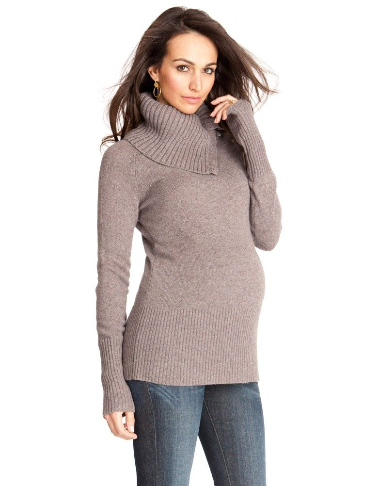 <p>Chic, soft and cozy this stylish cashmere blend maternity & nursing sweater is the perfect remedy for keeping you bump warm this winter. This ribbed, neutral style will not only lend warmth to your look but also feel sumptuously soft to your sensitive skin. With button down detail that allows for this chunky knit roll neck style to provide a comfortable option for breastfeeding during the colder seasons.</p> <ul> <li>Button down detail for nursing</li> <li>Ribbed detail at the neckline…