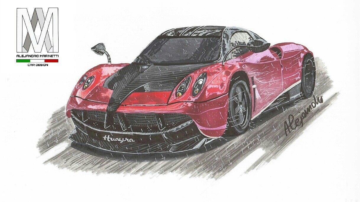 Pagani Huayra-Time Lapse drawing   Car drawings   Pinterest   Car ...