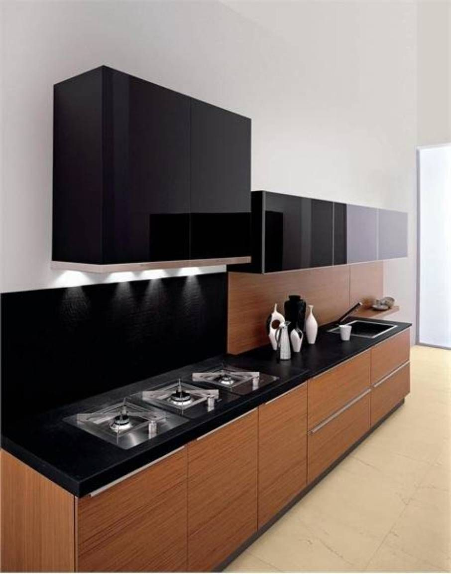 Black Kitchen Design Idea With Wall Cabinets Also Contemporary Fair Modern Cabinet Design For Kitchen 2018