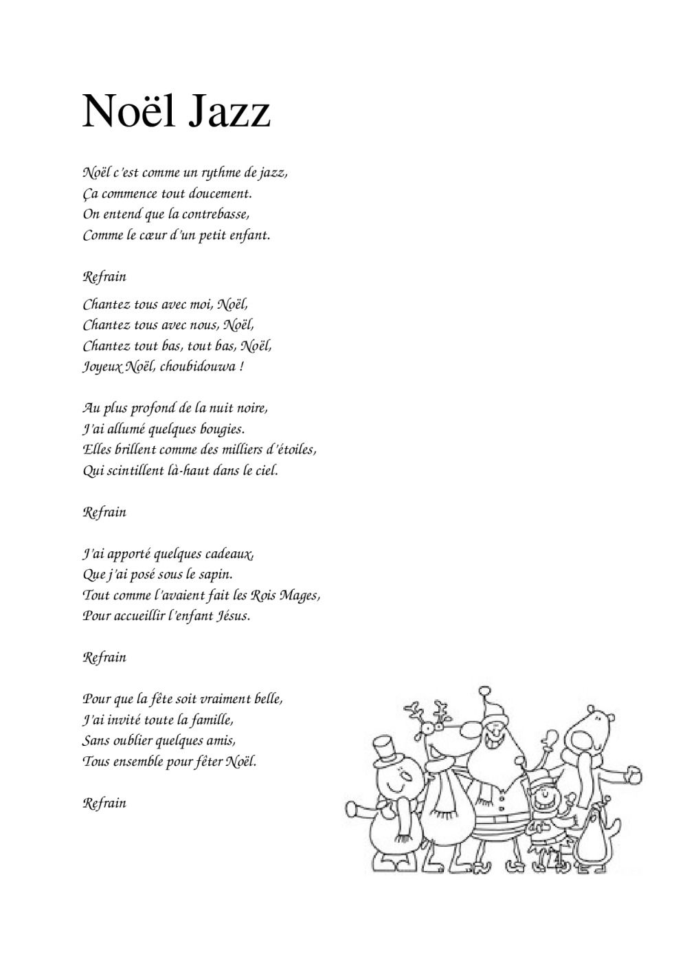 Noël C'est Comme Un Rythme De Jazz Paroles : noël, c'est, comme, rythme, paroles, Paroles, Chansons, Noël