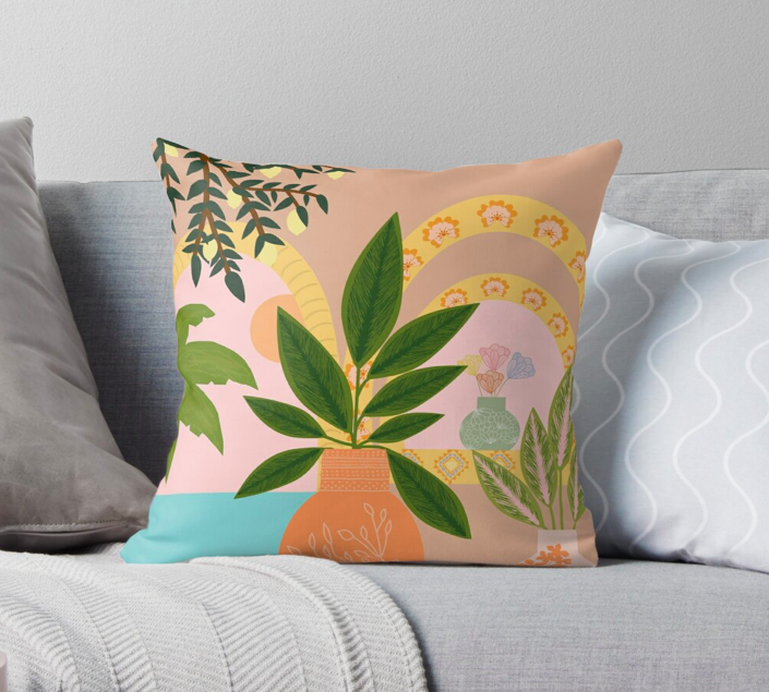Photo of Sunsets At The Beach by Nika Venturini Pillow