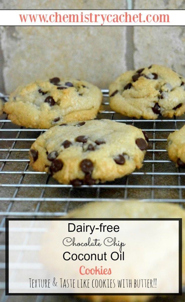 Dairy-free Chocolate Chip Coconut Oil Cookies | Recipe ...