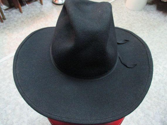 Cappello in feltro stile cowboy anni 50/Nero.Tg.56/Cool ...