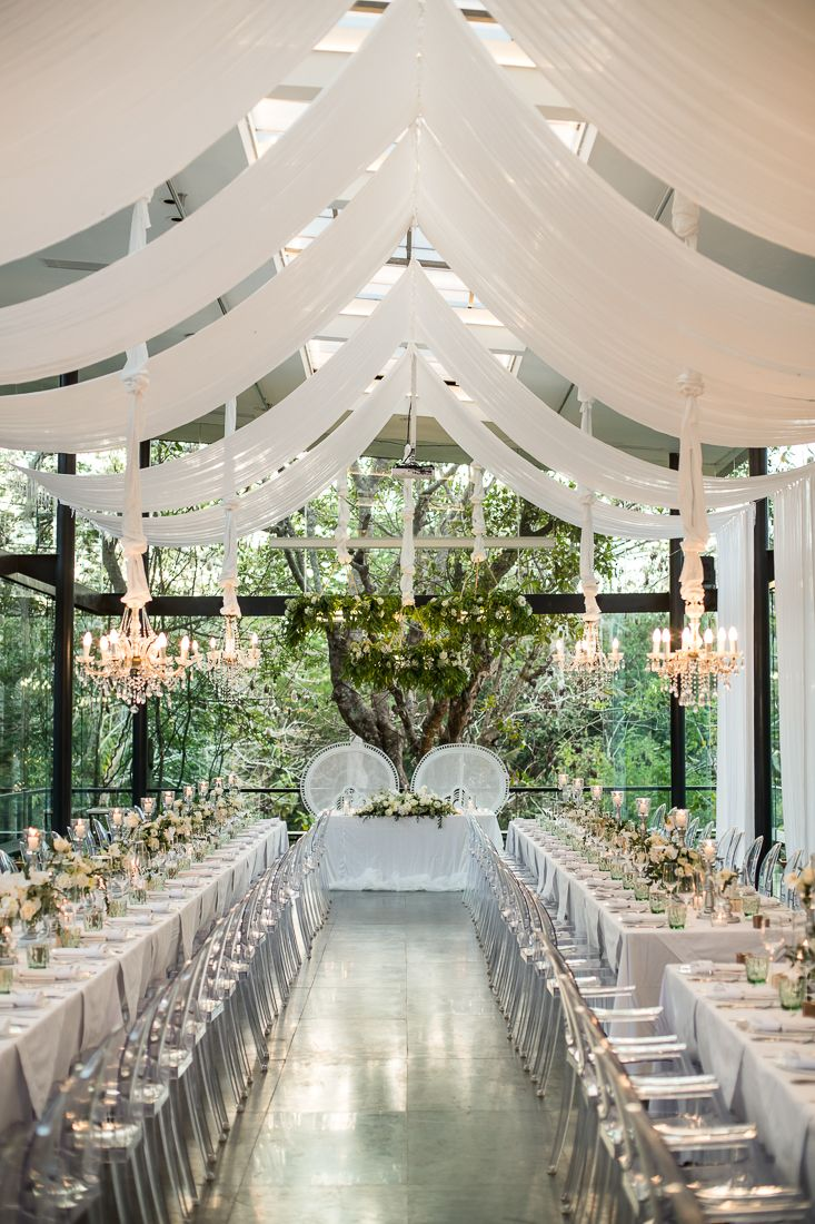 Chic In White At Glass House Bali Glass House Wedding Wedding Stone Wedding Locations