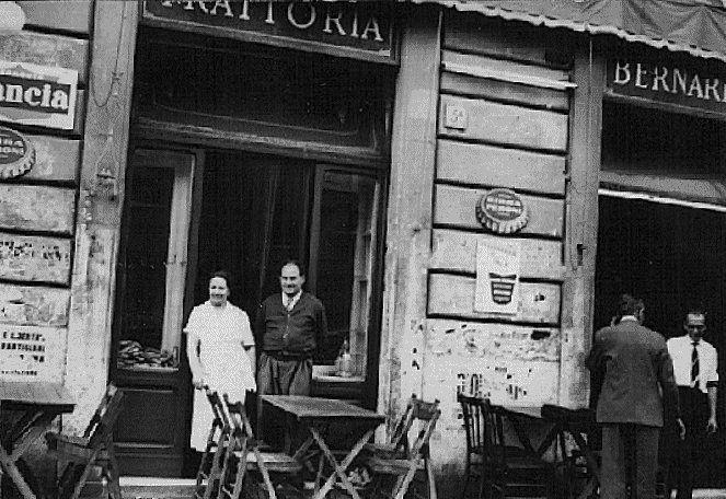 """ROMA appena l'altroieri... cose """"sparite"""" da poco... - argo Brindisi (S. Giovanni): anni '50 - Trattoria """"Bernardini"""""""
