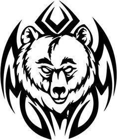ca7310d407e2f Tribal Bear Tattoo Designs   bear paw tattoos   Tribal bear tattoo ...