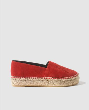 d4944d310a7 Alpargatas planas de mujer Kenzo de ante rojas Shoe Show