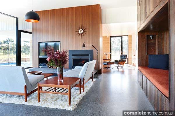 Living Room Ideas Australia grand design australia: balnarring rammed earth house- living room