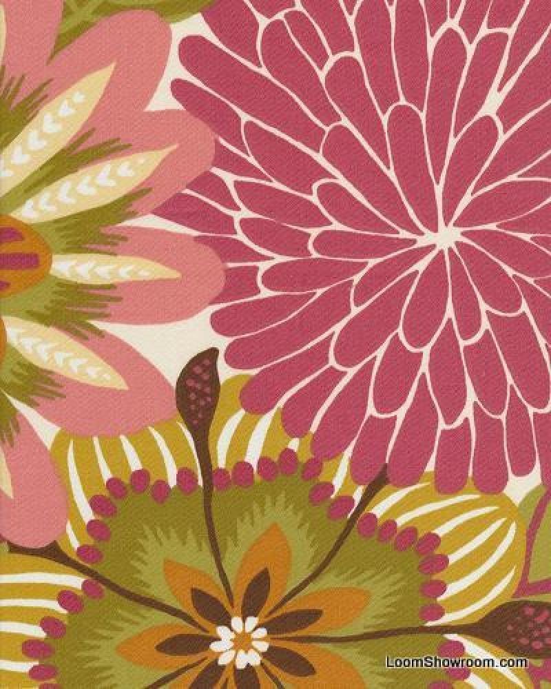 Drapes For The Nursery Dahlia Big Bold Floral Contemporary