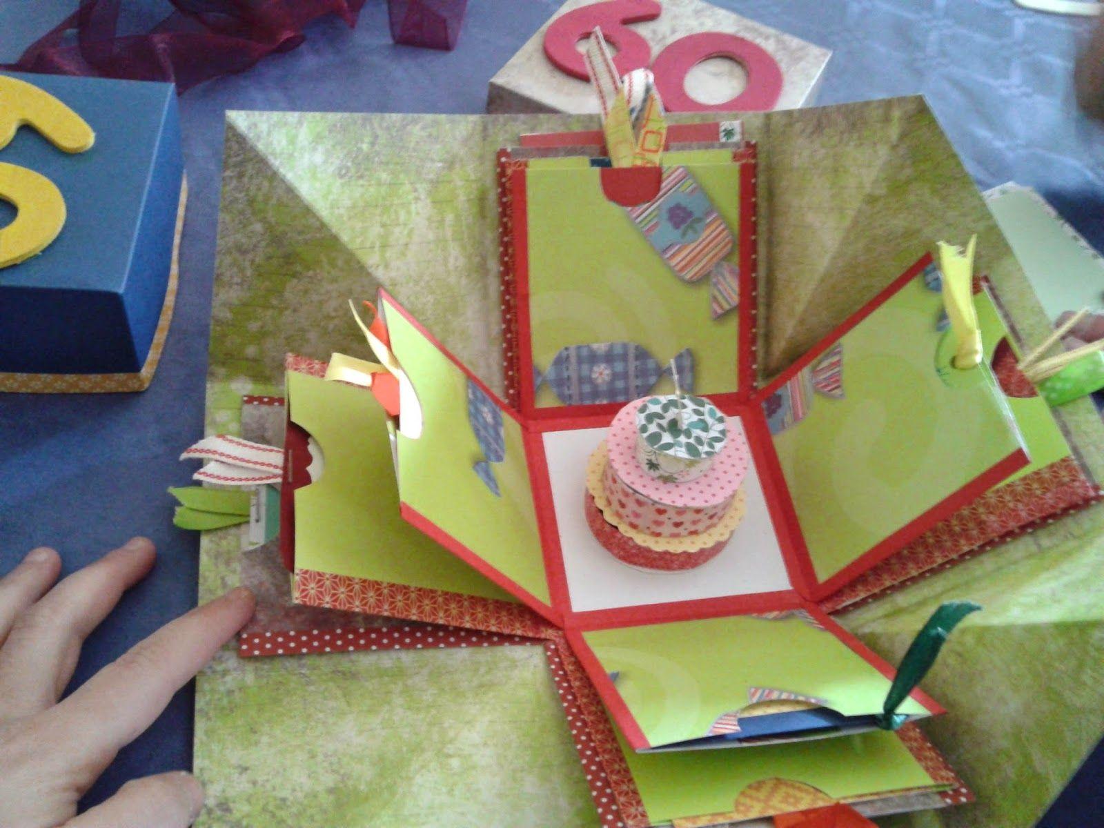 Madela Manualidades Explosion Box Gift Wrapping Birthday