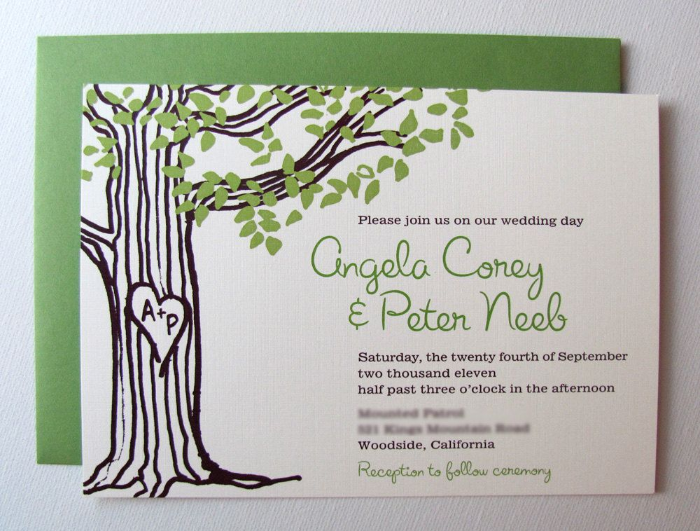 Love Tree Wedding Invitations