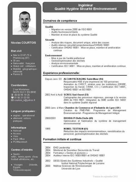 Exemple Cv Qui Marche A Imprimer Exemple Cv Modele Cv Telecharger Cv Gratuit