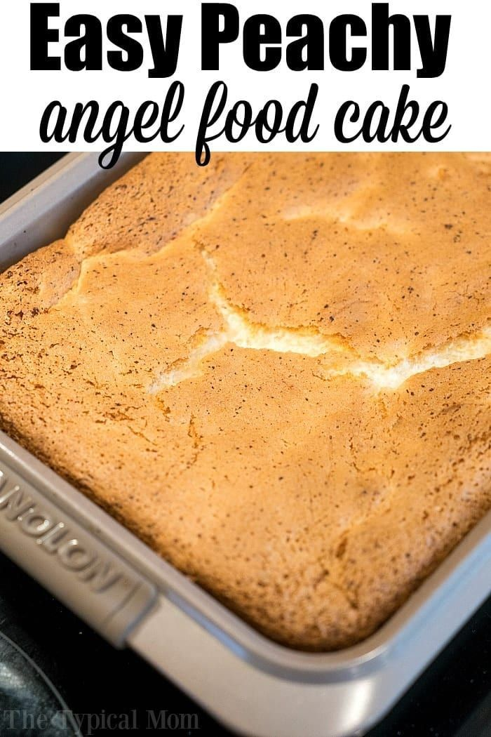 Fat Free 2 Ingredient Peach Angel Food Cake will Become Your New Fave!