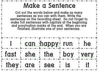 Make a sentence game - center