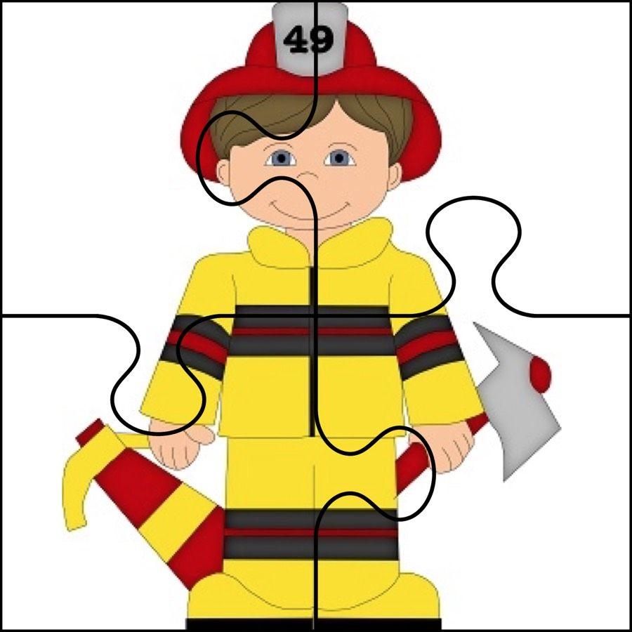 Dzien Strazaka Puzzle Latwe Dzien Strazaka Maj Puzzle Do Wycinania Swieta I P Fire Safety Preschool Crafts Community Helpers Preschool Community Helpers Theme