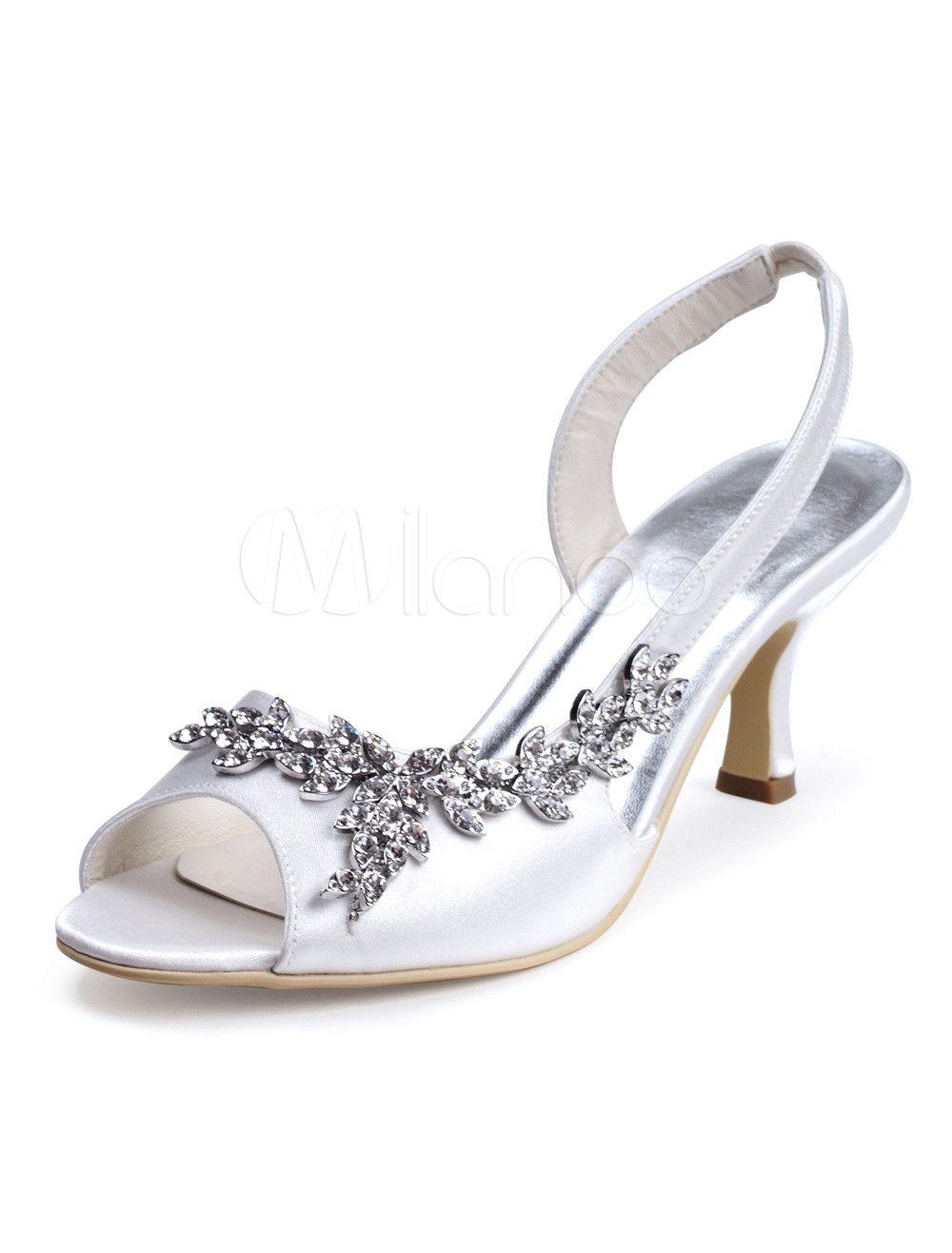Zapatos de fiesta de seda y satén con pedrería 3gKdmOT