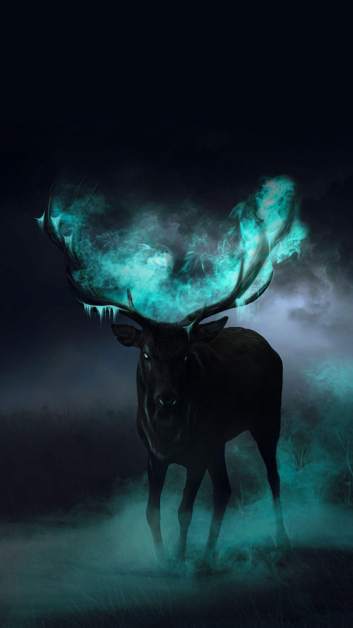 black deer lock screen wallpaper for android and iphones