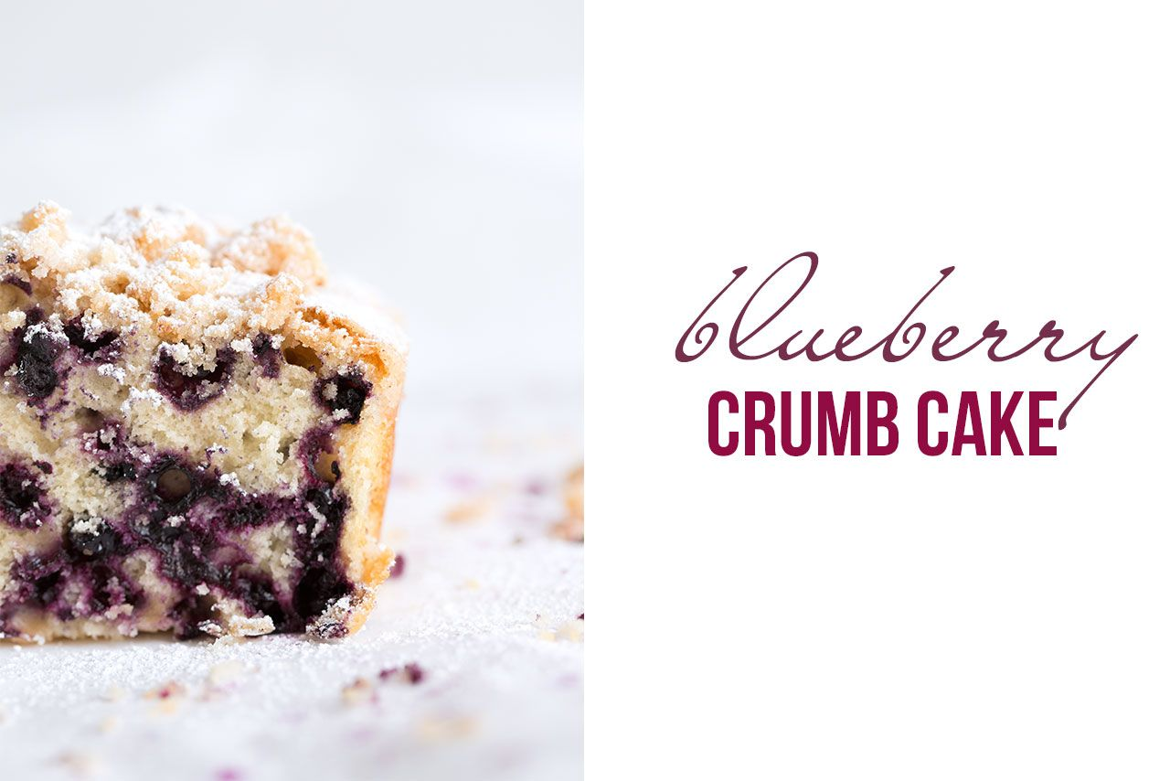 Blueberry Crumb Cake - A fluffy coffee cake made with fresh blueberries and a crumbly streusel topping, that is easy to make