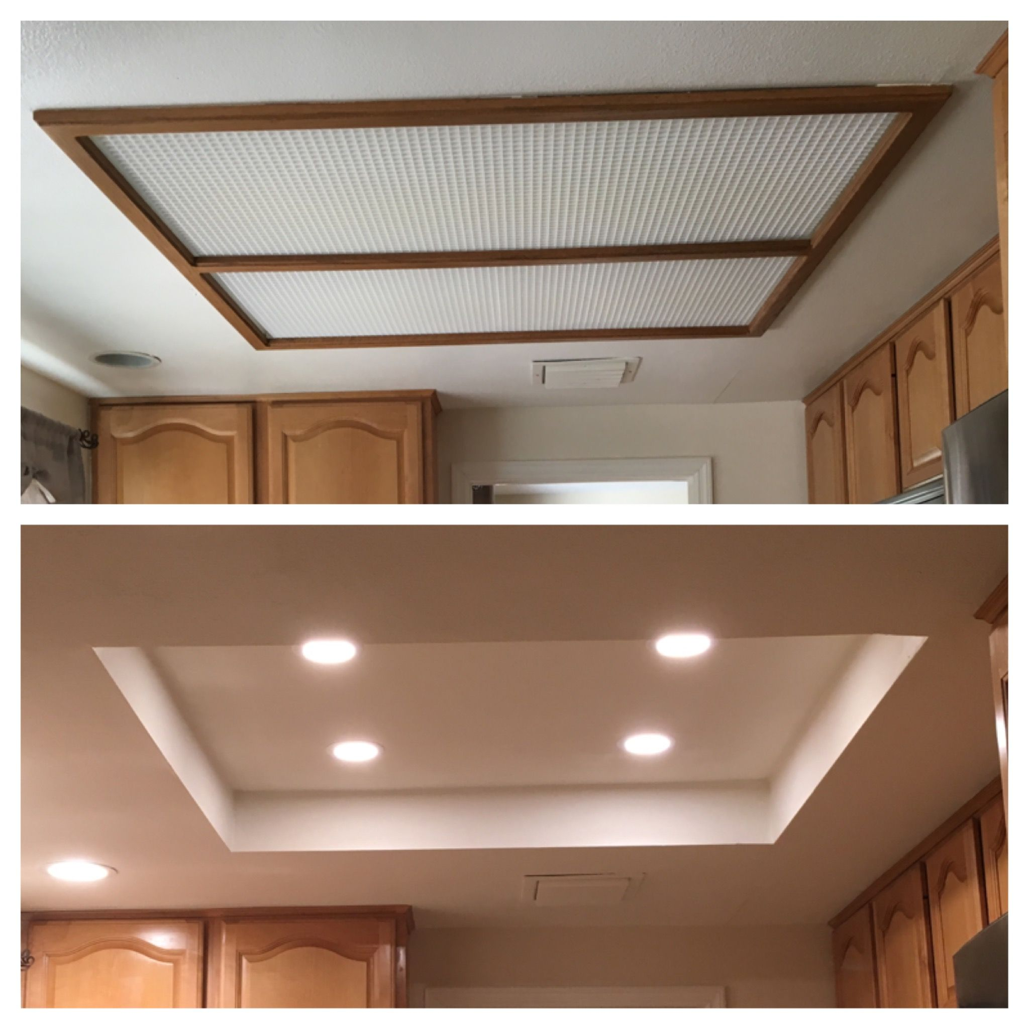 Kitchen Lighting Before And After Kitchen Lighting Remodel Kitchen Recessed Lighting Kitchen Ceiling Lights