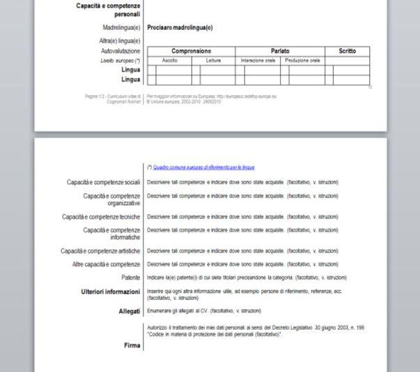 Curriculum Vitae Europass Modelos De Curriculum Vitae