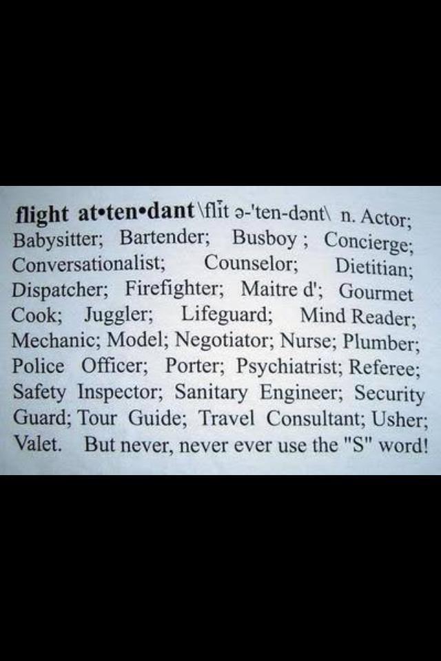 My job description I\u0027m a flight attendant ! Pinterest