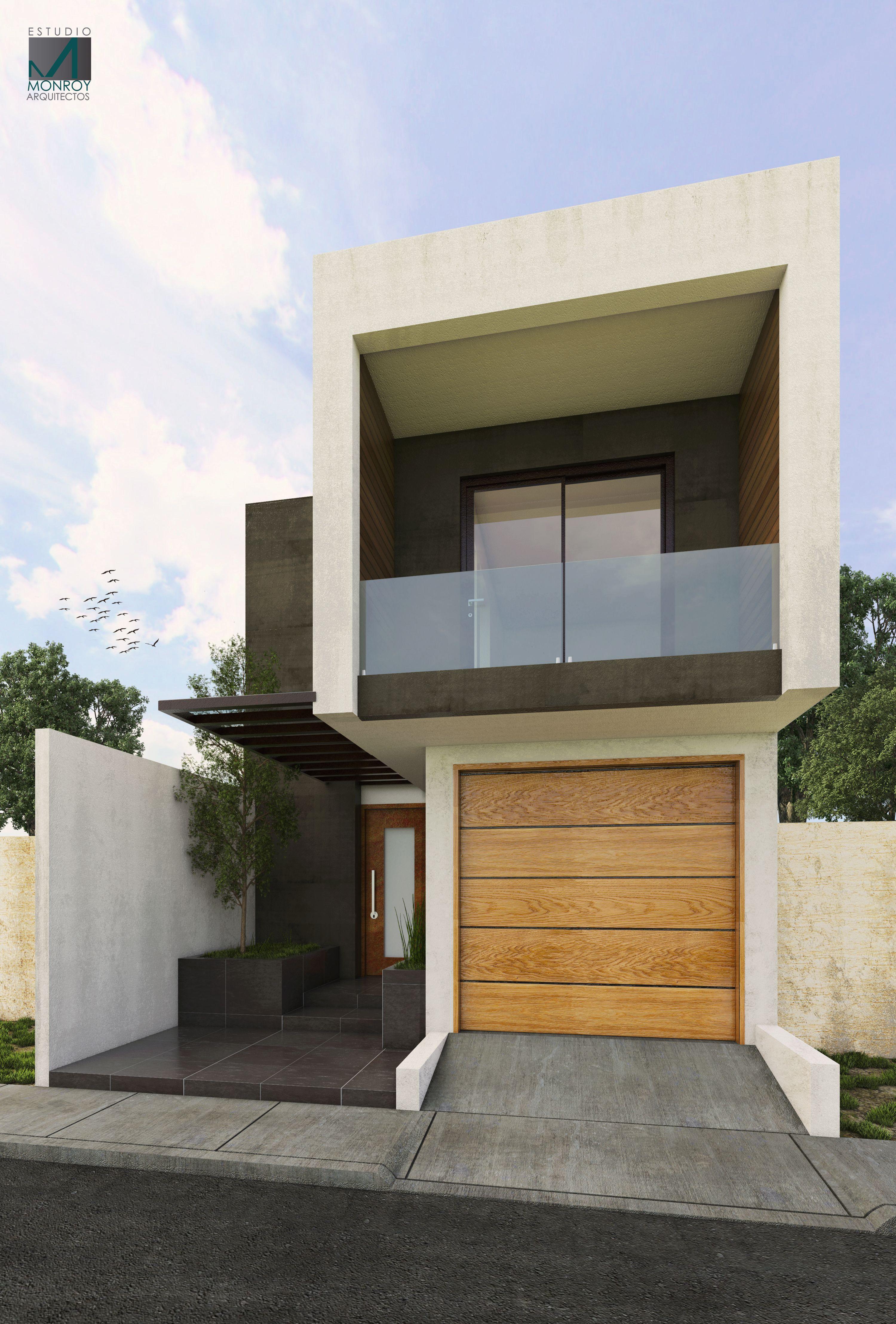 Remodelaci n fachada contempor nea 2 arquitecturamoderna for Fachadas de casas pequenas de 2 pisos
