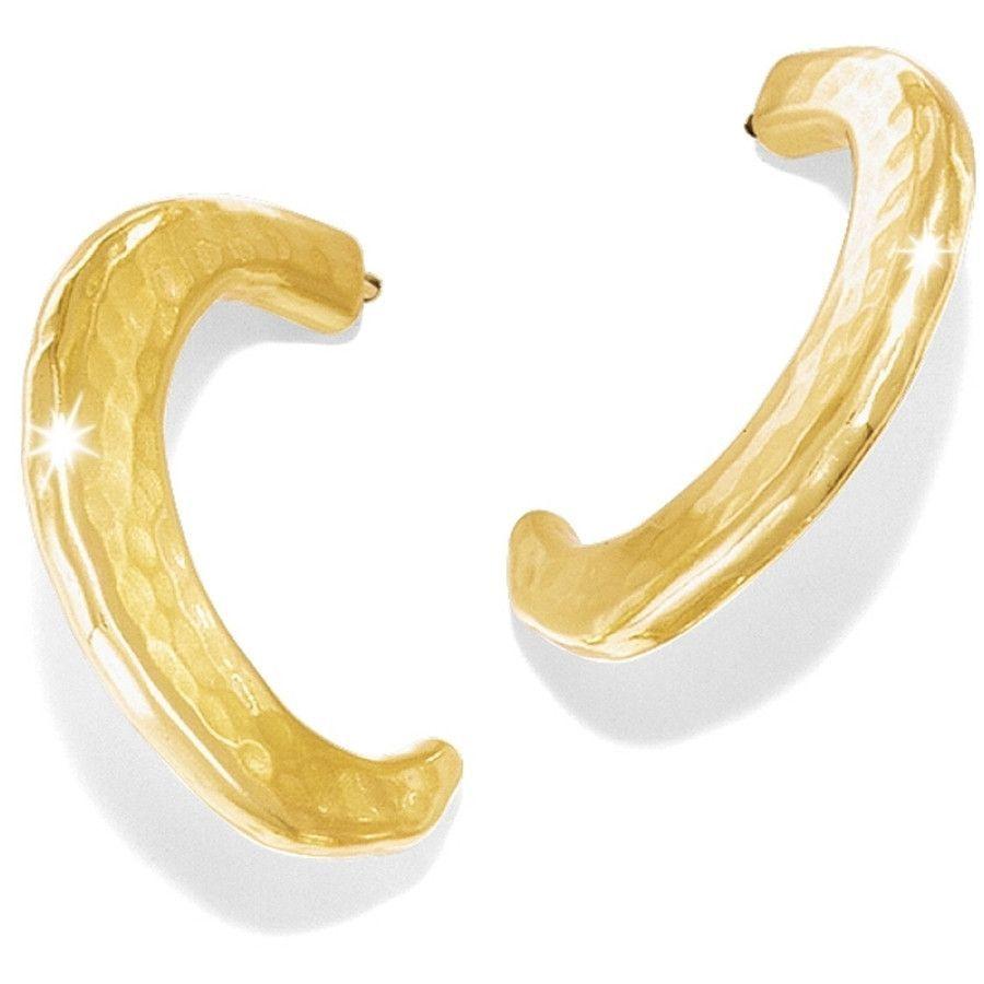 Brighton Versailles Montagne Hoop Earrings Gold