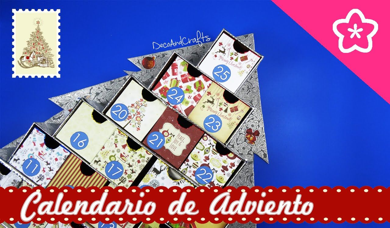 Calendario de Adviento Pino Navideño Organizador [ Advent Christmas Cale...