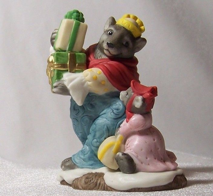 Fitz and Floyd Holiday Hamlet Mrs Grizzly Enchanted Forest Figurine