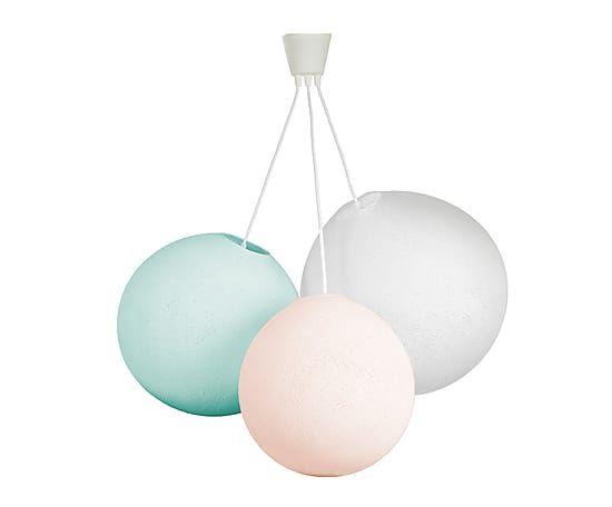 Hängeleuchte Eternity, weiß/rosa/blau, Ø 108 cm
