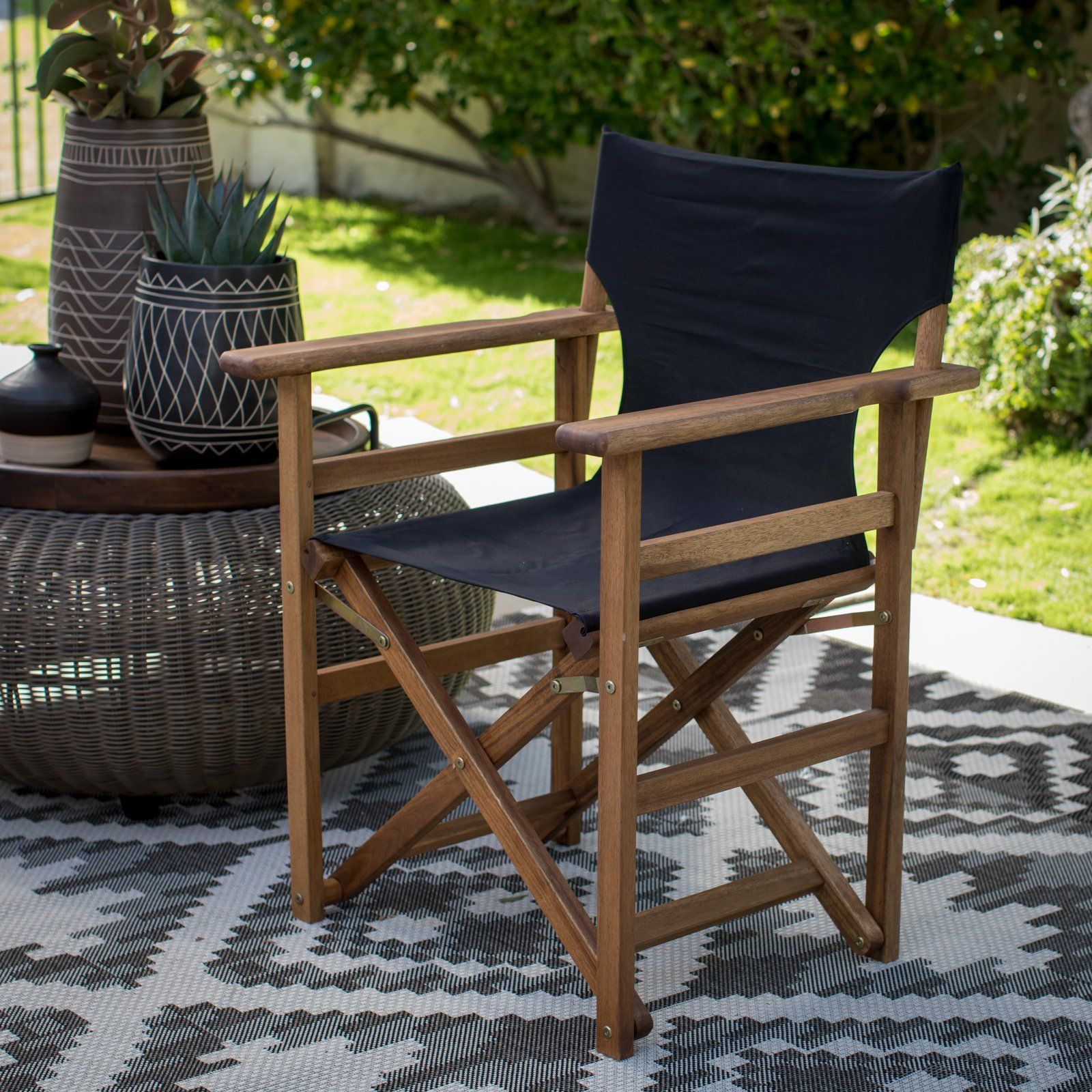 Coral Coast Outdoor Directors Chair Set Of 2 Affordable
