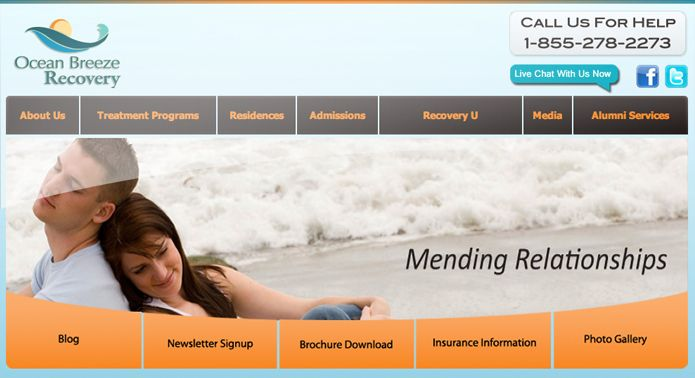 Ocean Breeze Recovery Web Design Projects Website Design Company Website Design
