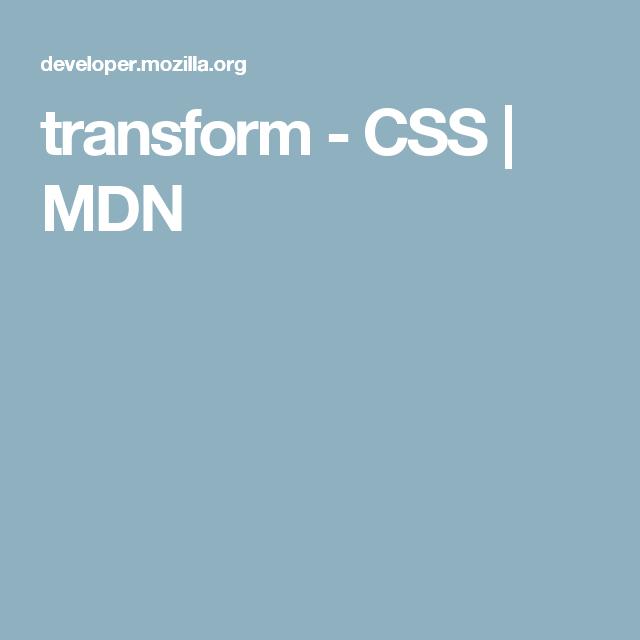 Transform Css Mdn Transformations Css