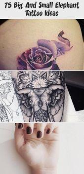 Photo of 75 grandes et petites idées de tatouage d'éléphant – Artisanat plus lumineux #sunflowertattoosWithW …