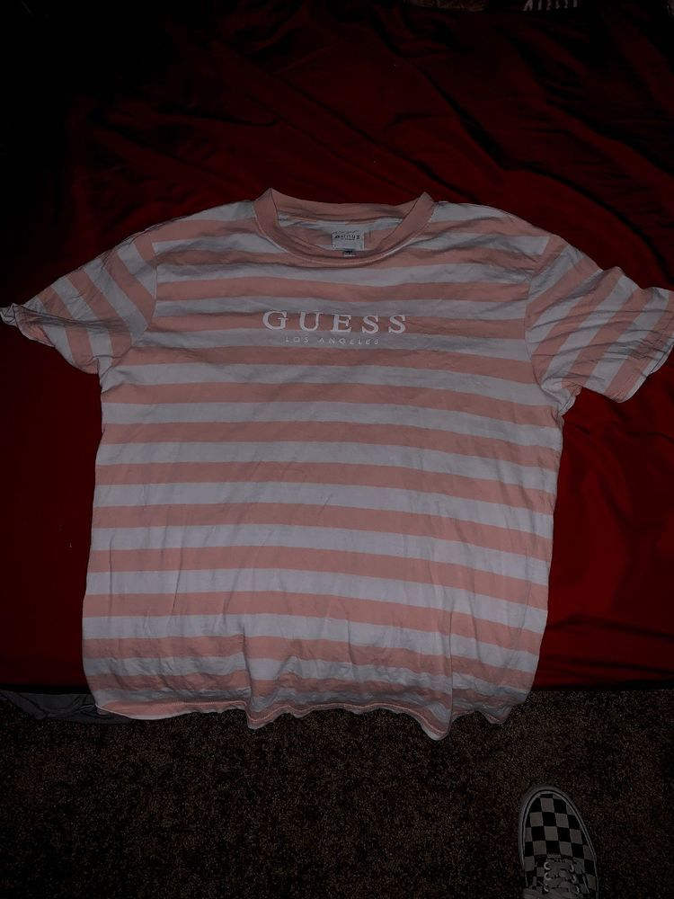392c7adb9d89 NEW NWT Guess Los Angeles Multi Color Striped T Shirt Tee Size Small Men  #fashion #clothing #shoes #accessories #mensclothing #shirts (ebay link)