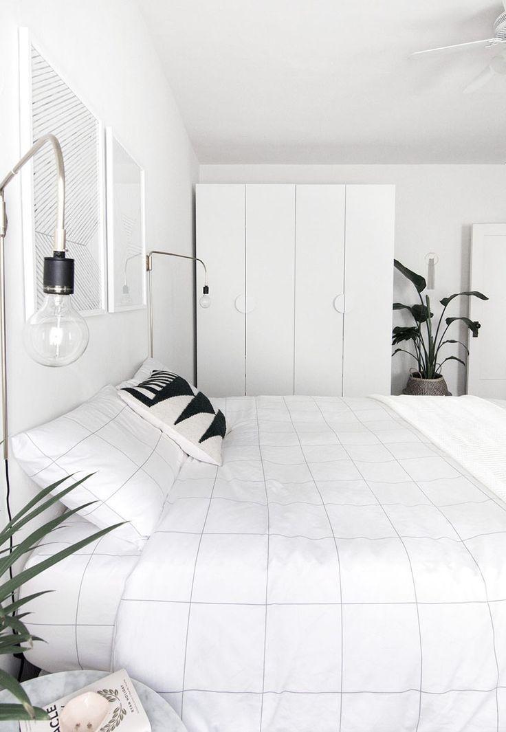 How To Achieve A Minimal Scandinavian Bedroom Homey Oh My White Bedroom Decor Scandinavian Design Bedroom Modern Minimalist Bedroom