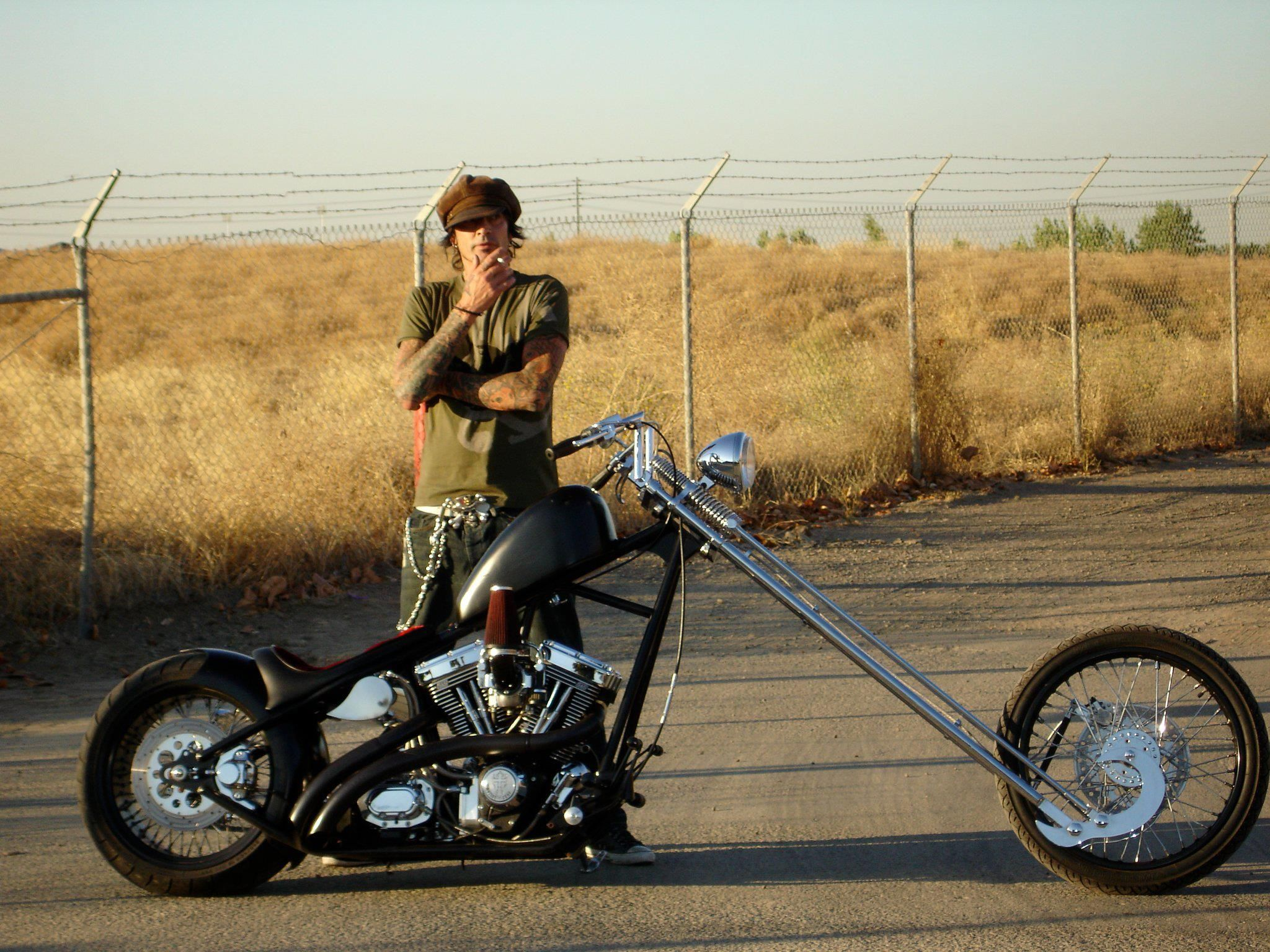 Tommy Lee and his sugar bear springer evo chopper | Freedom