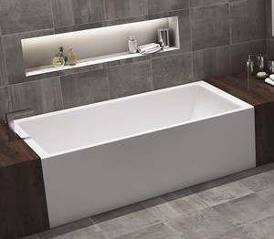 Americh Turo Offers A Sleek Modern End Drain Alcove Tub