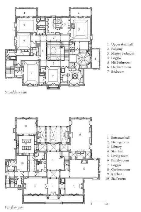 A.V.D. Mansions: Villa Fatio in Beverly Hills | Floorplans ...