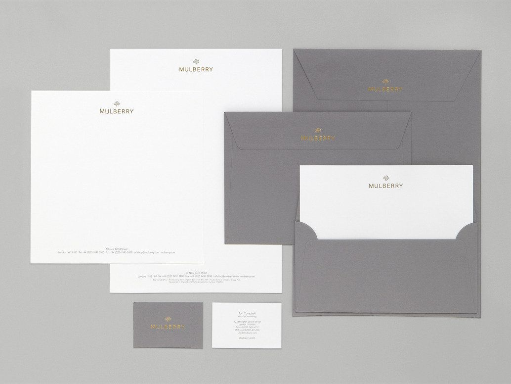 Mulberry corporate design | stationary | business cards | letters ...