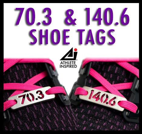 70.3 Half Ironman & 140.6 Ironman Shoe Tags - Get Inspired, Stay Inspired! great for running partners! #ironmantri